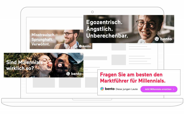 bento Banner - Marktführer für Millennials